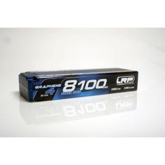 LRP HV Stock Spec GRAPHENE-4 8100mAh Hardcase Akku - 7.6V LiPo - 135C/65C - 327g