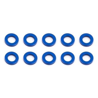 Team Associated Ballstud Washers, 5.5x3.0x1.0mm, blue aluminum