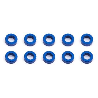 Team Associated Ballstud Washers, 5.5x3.0x2.0mm, blue aluminum