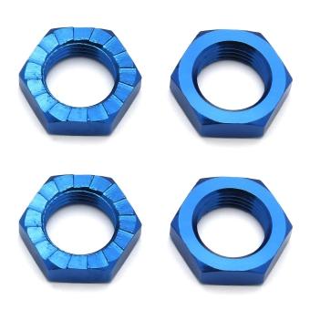 Associated Electrics FT Wheel Nuts, 17mm, blue
