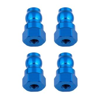 Team Associated Shock Bushings, 12mm, blue aluminum