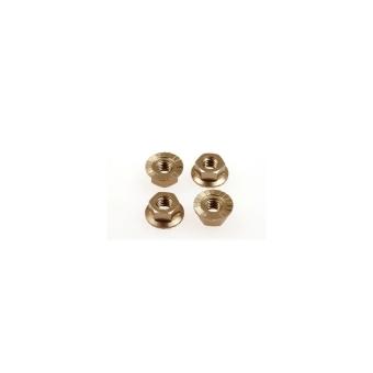 Hiro Seiko 4mm Alloy Serrated Wheel Nut [Ti] (4pcs)