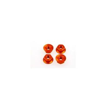 Hiro Seiko 4mm Alloy Serrated Wheel Nut [Orange] (4pcs)