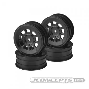 """JConcepts 9 Shot - 2.2"""" Front Wheel - Black - 4pc."""