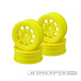 "JConcepts 9 Shot - 2.2"" Front Wheel - Yellow - 4pc."