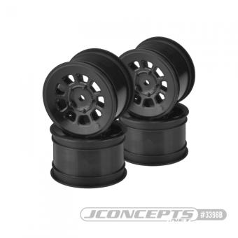 """JConcepts 9 Shot - 2.2"""" Rear Wheel - Black - 4pc."""