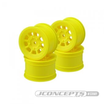 """JConcepts 9 Shot - 2.2"""" Rear Wheel - Yellow - 4pc."""