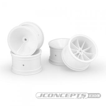 "JConcepts Mono - RC10   RC10B2   RC10B3 2.2"" Rear Wheel - White"