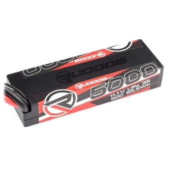 RUDDOG 5000mAh 50C 11.1V LiPo Stick Pack Battery with XT60 Plug