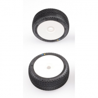 Sweep SWEEPER Silver (Ultra soft) X Pre-glued set 8th Buggy tires/White wheels 4pcs