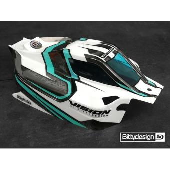 Bittydesign Vision Mugen MBX8-ECO Body, Pre-cut, Clear
